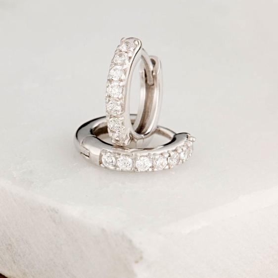 Silver Huggie Earrings - Buy Online UK