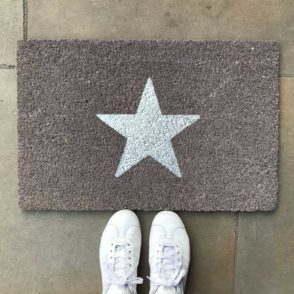 Glitter Star Door mat By Bombay Duck