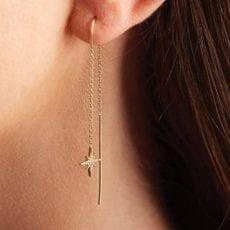 Star burst Threader Earrings Buy Online UK