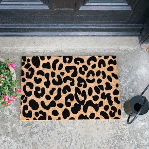 leopard print doormat - buy online UK