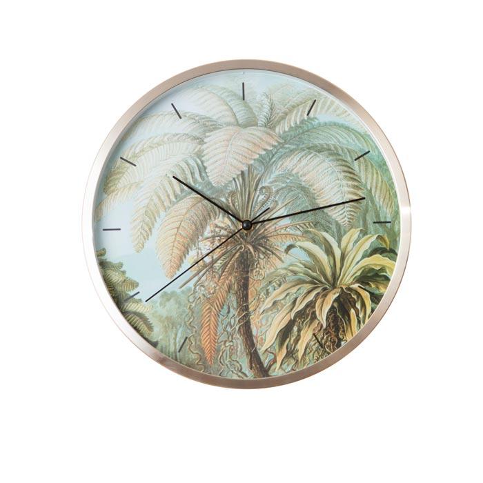 Statement Wall Clock – Palm Design