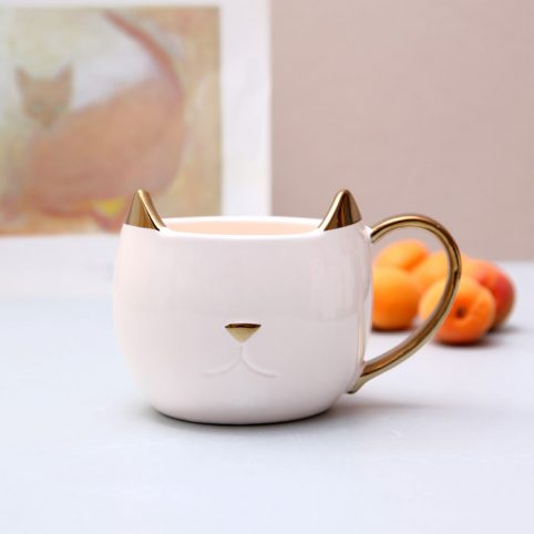 Ceramic Cat Mug by Pinky Up