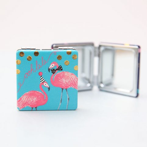 Pink Flamingo Compact Mirror - Buy Online UK