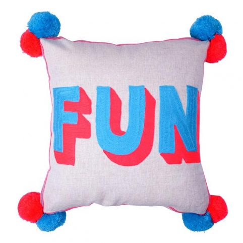 Fun Embroidered Cushion - Buy Online UK