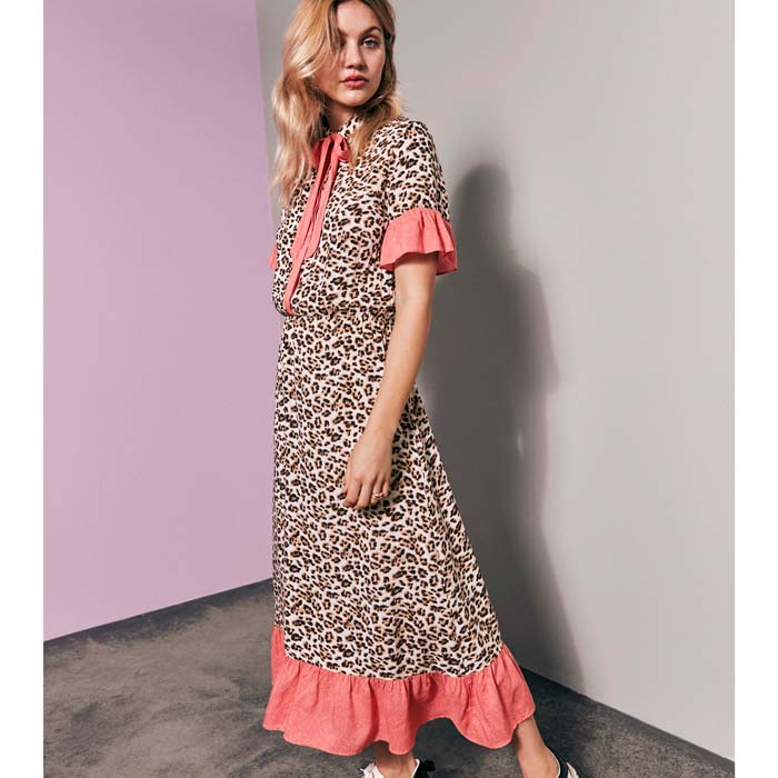 92db64f0f7e7 Leopard Midi Dress By Vila