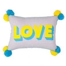 Love Pom Pom Cushion - Buy Online UK