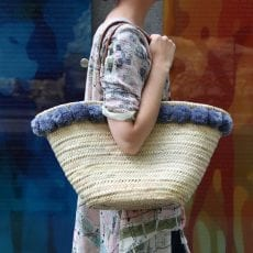 Pom Pom Straw Bag - Free UK Delivery