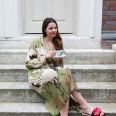 One Hundred Stars Stork Dressing Gown - Buy Online UK