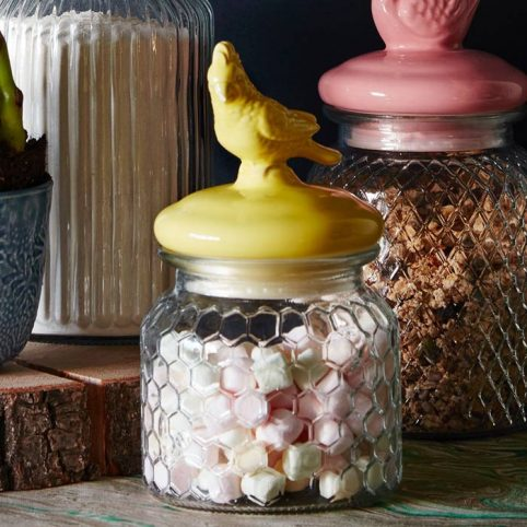 Bird Glass Jar With Lid - £9.50 Buy Online UK
