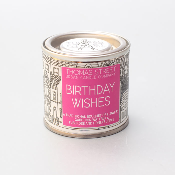Birthday Wishes Small Tin Candle - £7.5O Buy Online UK