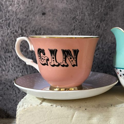 Gin Cup and Saucer - Free UK Delivery