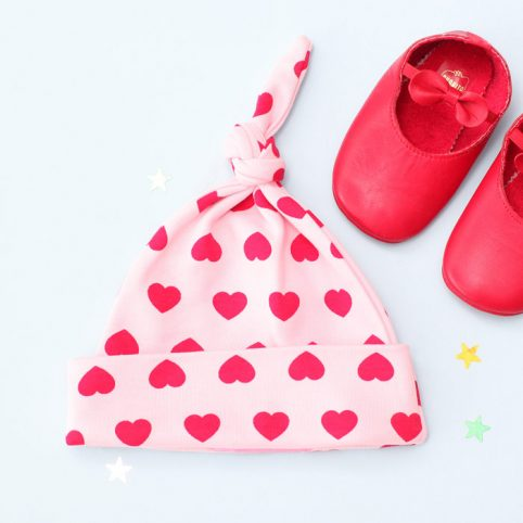 Hearts Print Baby Hat - Buy Online UK