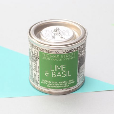 Lime and Basil Tin Candle Thomas Street - Buy Online UK