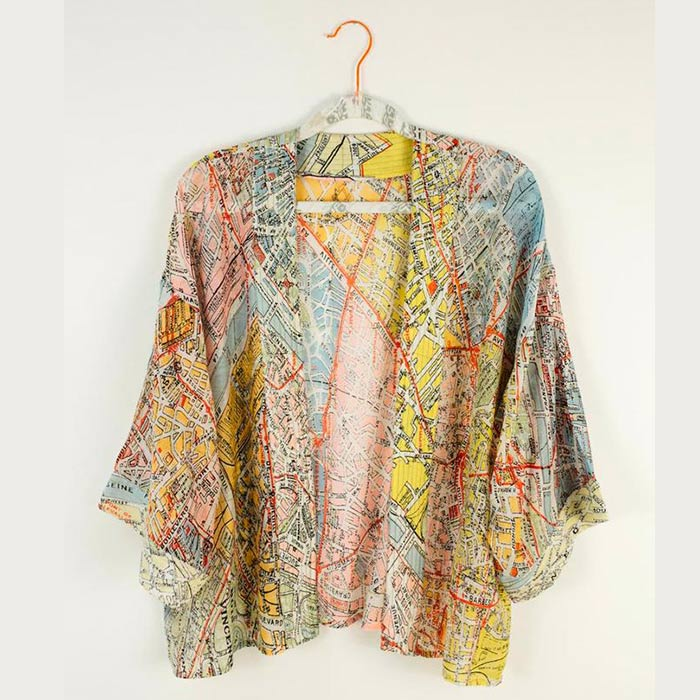 Paris Map Kimono - Buy Online UK