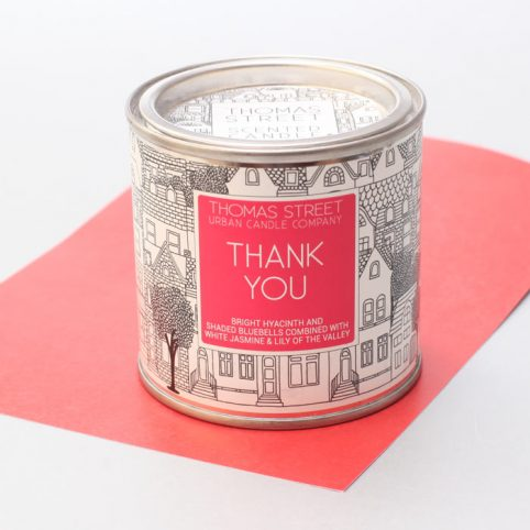 Thank You Tin Candle - Thomas Street