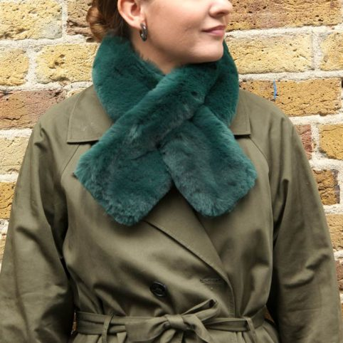 Dark Green Faux Fur Collar - £14.50 Free UK Delivery