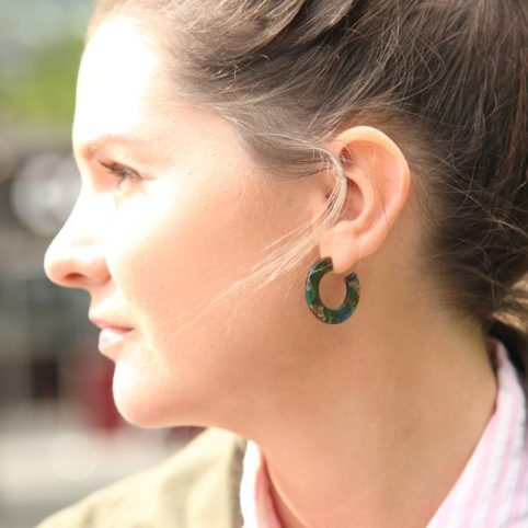 Green Resin Hoops - Buy Online UK