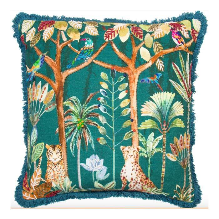 Jungle Print Cushion