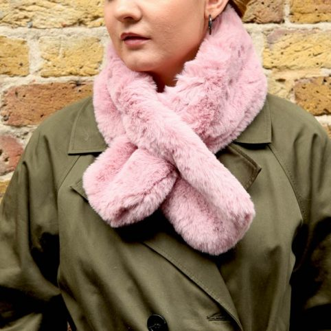 Pink Faux Fur Collar- £14.50 Free UK Delivery