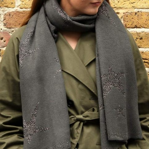 Oversized Star Print Scarf - Buy Online UK