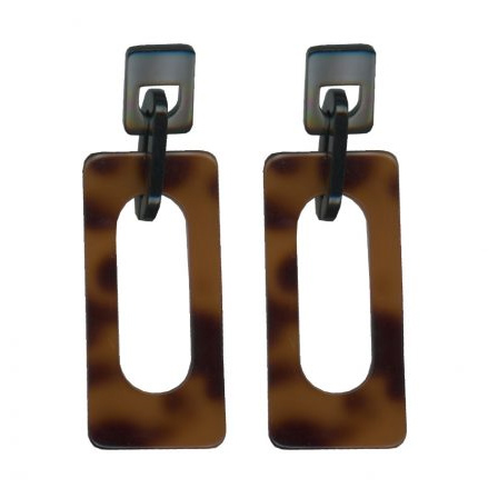 Tortoise Perspex Earrings - Buy Online UK