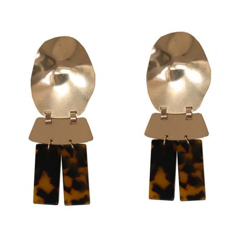 Resin Tortoise Statement Earrings - Free UK Delivery