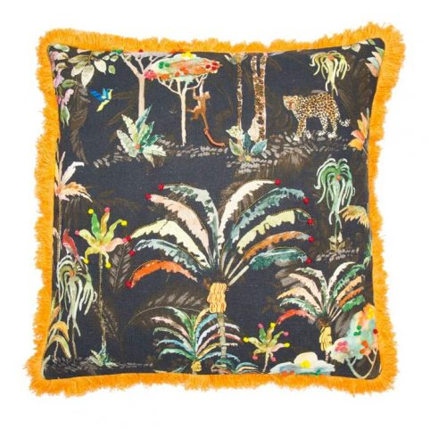 Jungle Print Cushion by Malini - Free UK Delivery