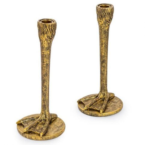 Gold Bird Leg Candlesticks - Buy Online UK