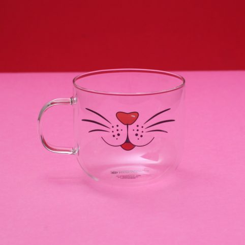 Cat Glass Mug - Buy Online UK