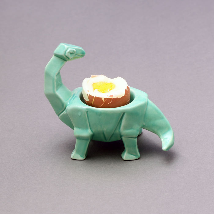 House of Disaster Egg Cups - Dinosaur Design