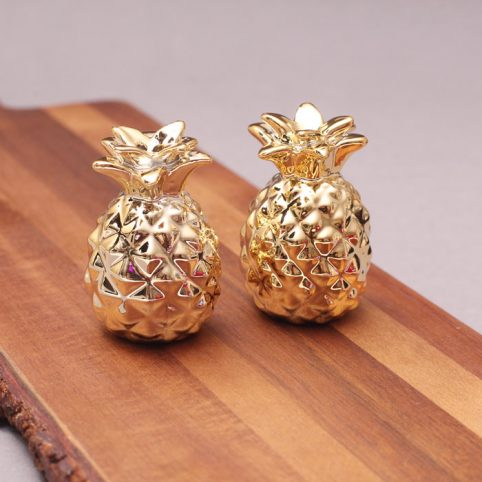 Gold Pineapple Salt and Pepper Shakers - Buy Online UK