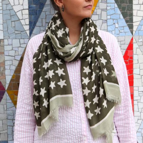 Scarf With Stars - Buy Online UK