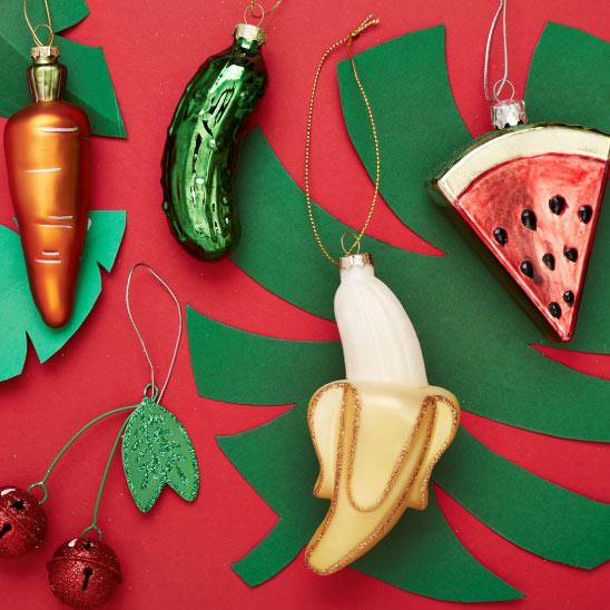 Sass and belle Banana Christmas Decoration