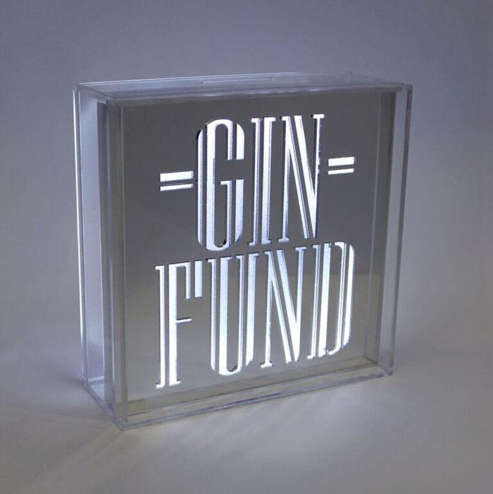 gin fund light up money box