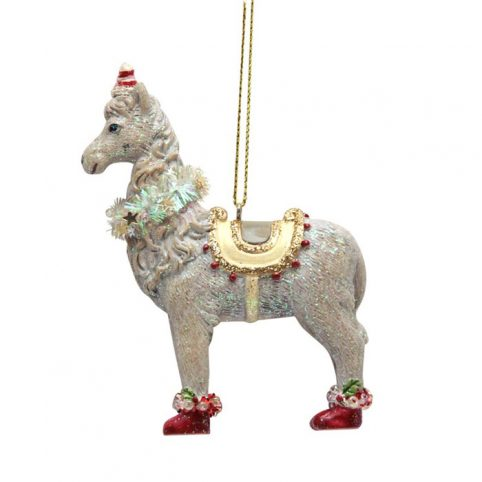 Gisela Graham Llama Christmas Bauble - Buy Online UK
