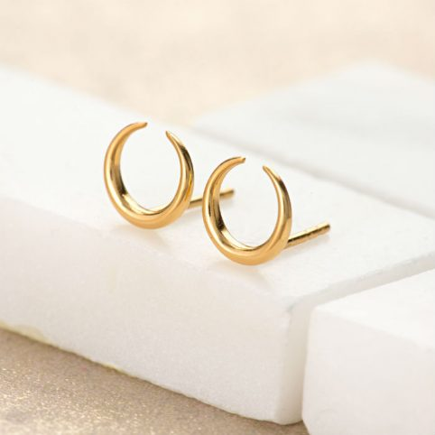 Gold Horn Stud Earrings by Scream Pretty