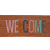 Present Time Welcome Doormat - Multi-coloured