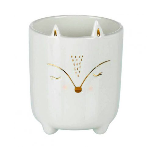 Porcelain Fox Plant Pot - Novelty Planters UK