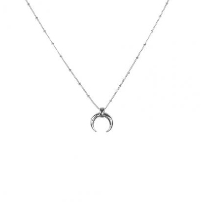 Victoria Silver Horn Necklace - Buy Online UK