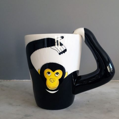 Porcelain Monkey Mug - Animal Mugs UK