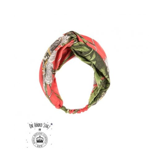 One Hundred Stars Kew Passion Flower Coral Headband
