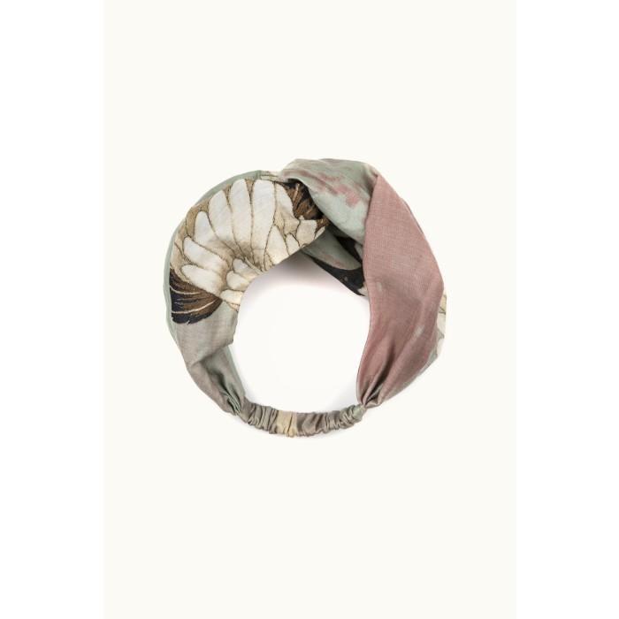 One Hundred Stars Stork Aqua Headband