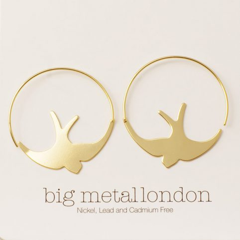 Bird Hoop Earrings - Buy Online UK
