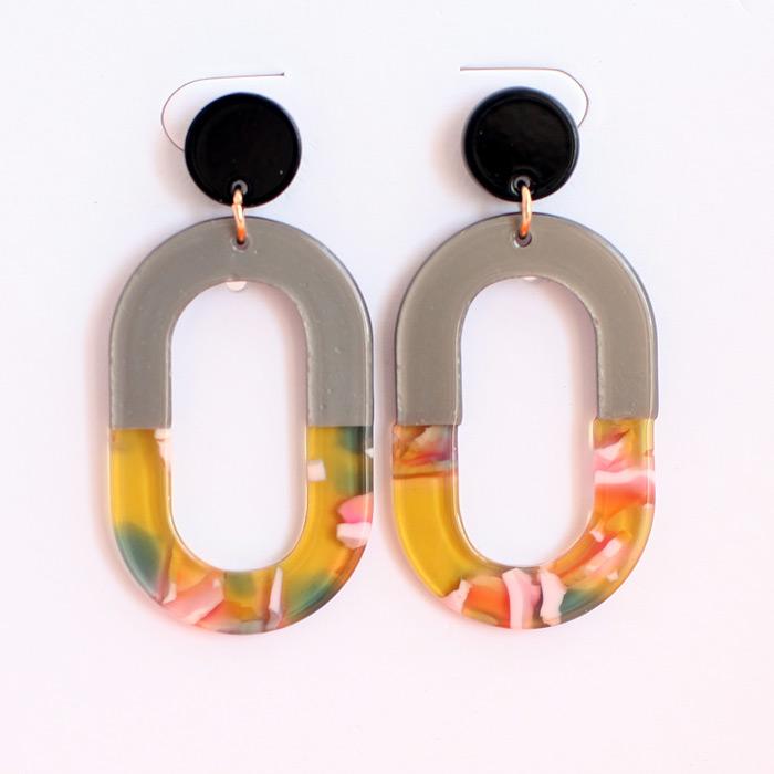 Oval Resin Earrings Buy Online UK