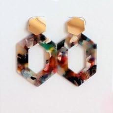 resin earrings multicoloured