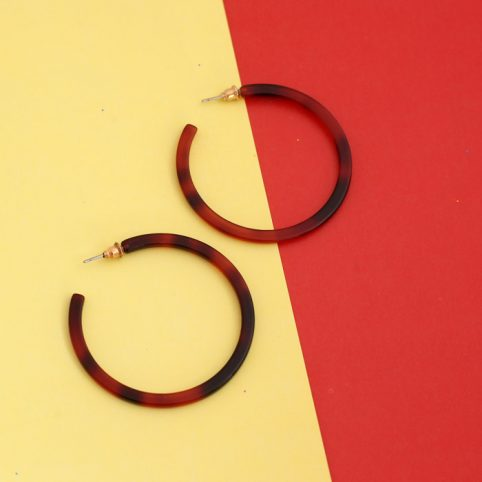 Resin Tortoiseshell Hoop Earrings UK For Sale Online