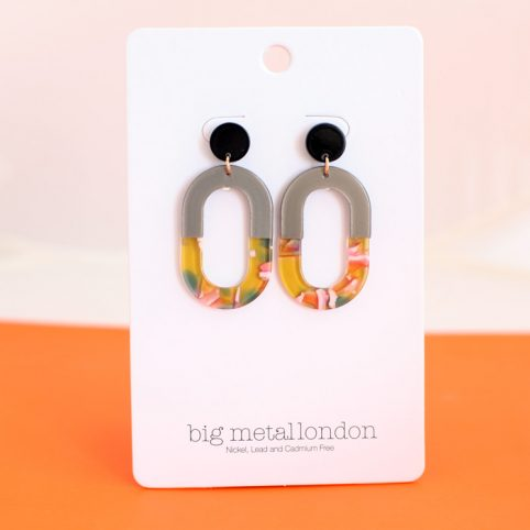 Resin Oval Earrings Buy Online UK