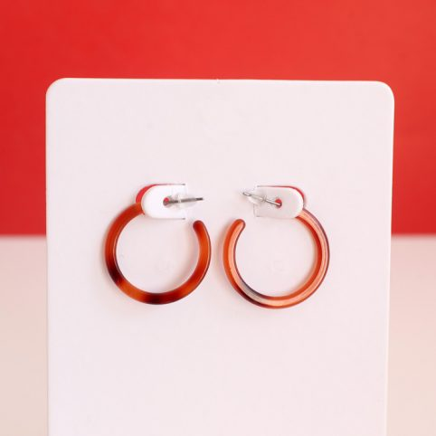 Tortoise Shell Small Hoop Earrings - Buy Online UK