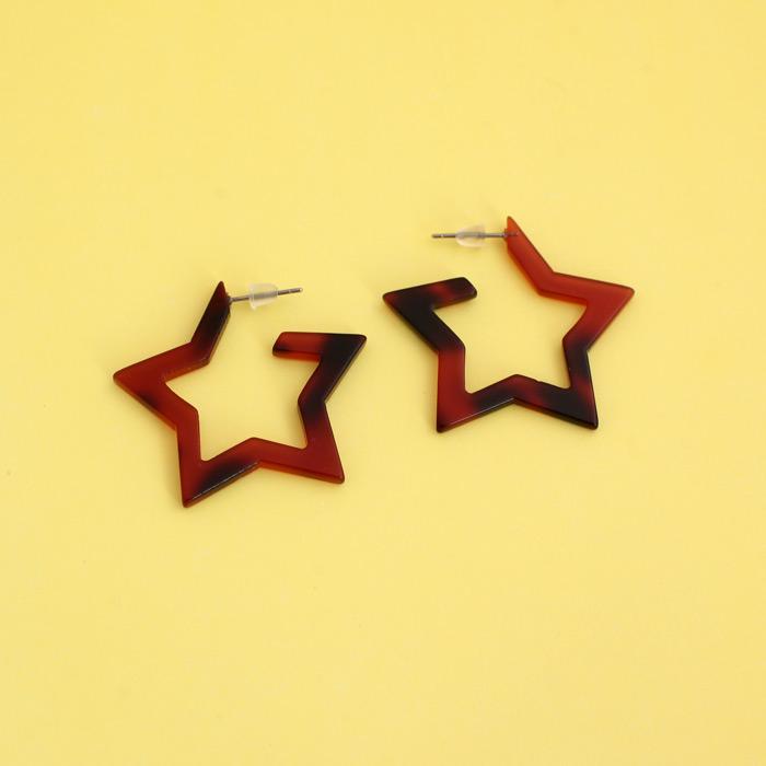resin star earrings