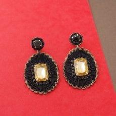 Oval Crystal Statement Earrings Buy Online UK